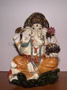 Lord Ganesh Sitting Resin Figurine Statue Ornament